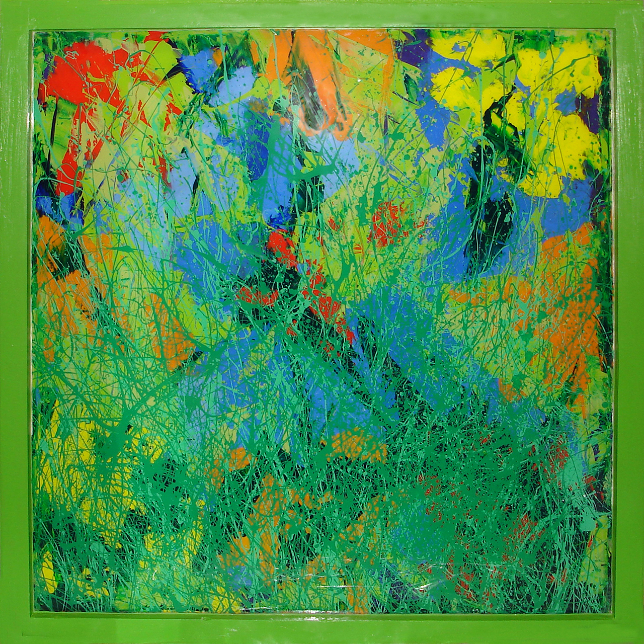 painting inspired by the garden at Glandernol, by artist Sue Purcell