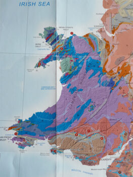 geological map of Wales