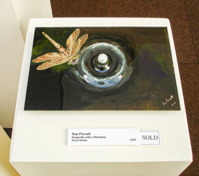 Dragonfly with a Raindrop in Nature In Art exhibition