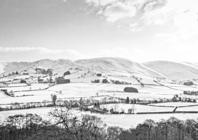 Looking south across Dernol towards Cefn Back, March 2013