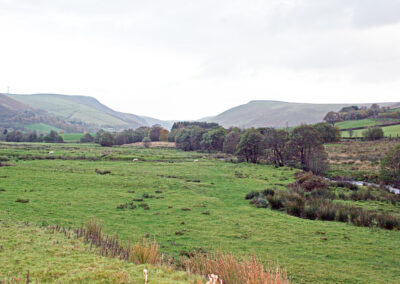 Looking sout-east towards Rhayader from near Dernol Farm, 2013