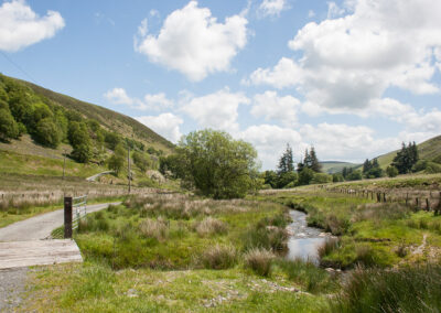 Looking south-east along Dernol valley from near Trafelgwyn, June 2014
