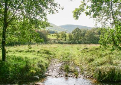 Looking west from Glandernol garden