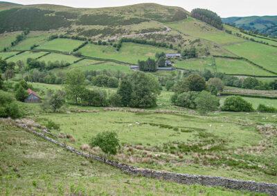 View across the Dernol valley from Lower Cefn Bach