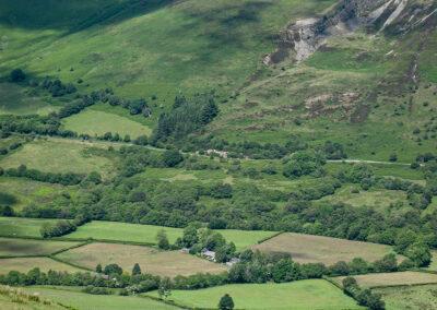 Dernol Valley viewed from above Cwmbyr