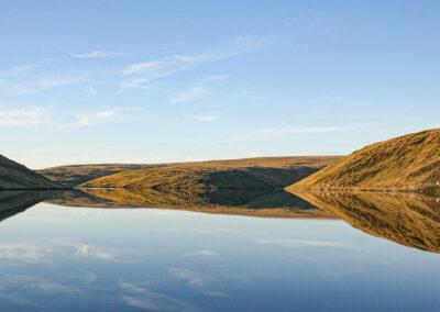 Claerwen Reservoir on a very still day
